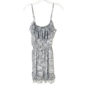 Moda International White Black Geometric Dress S